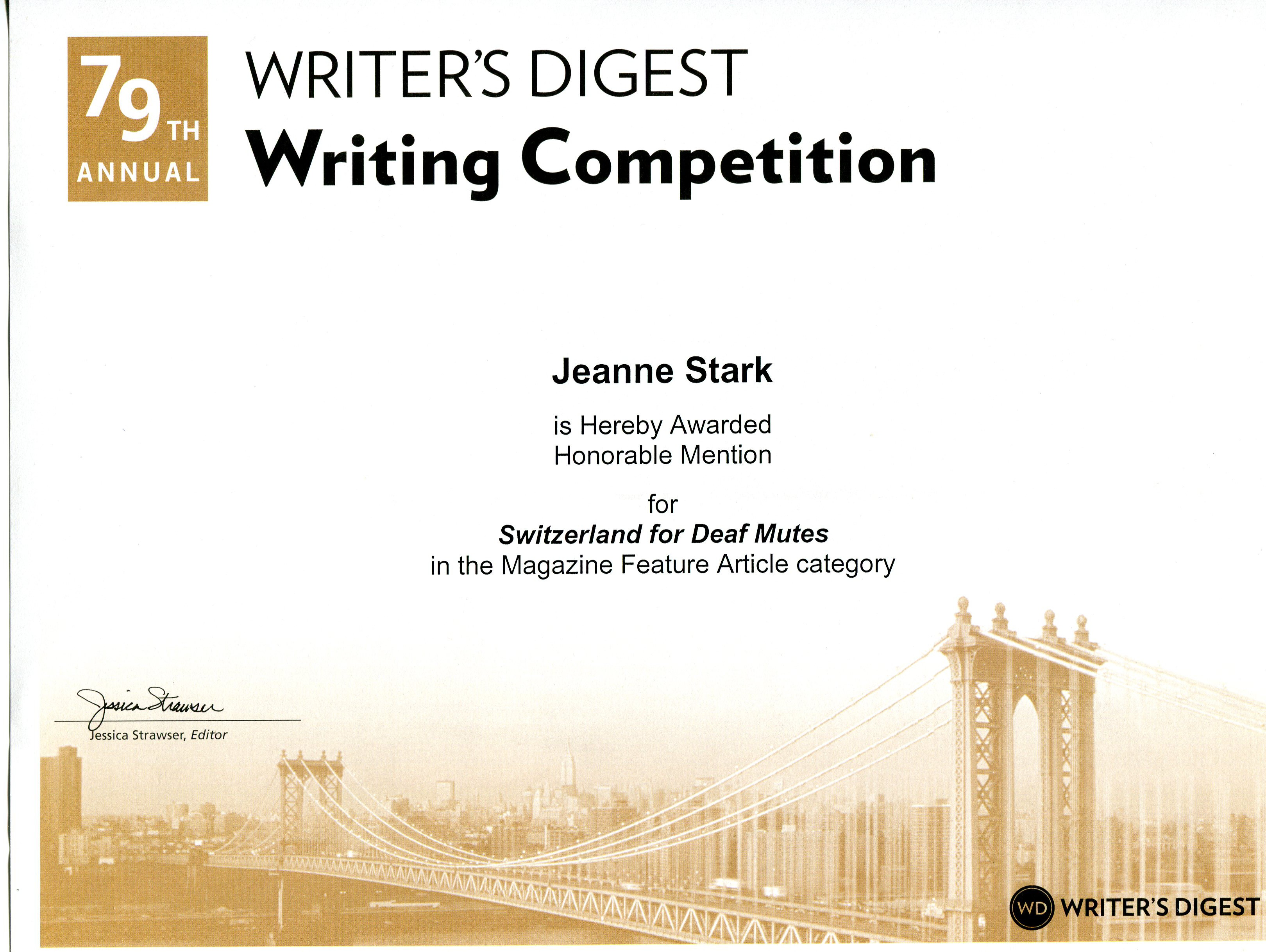 prestigious writing contests Behind the scenes of teenage writing competitions and you thought spelling bees were intense.